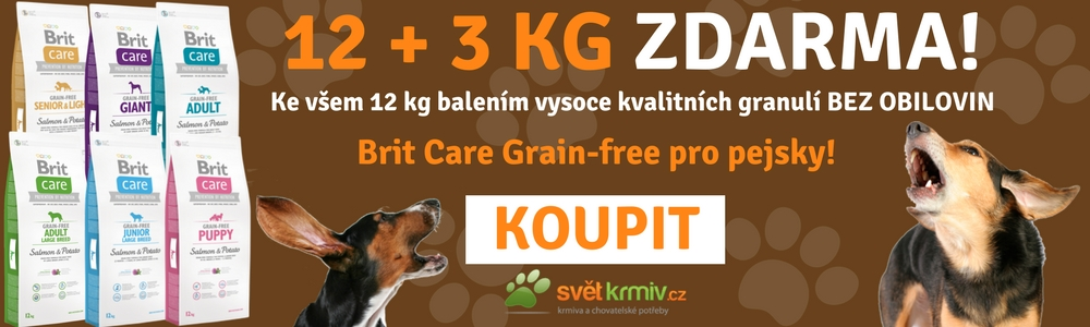 Brit Care grain free + 3 kg zdarma