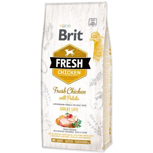 Brit Fresh Chicken with Potato Adult Great Life 12kg PO REGISTRACI JEN 1036 Kč