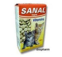 SANAL Vitamins + Calcium 100 tbl kočka