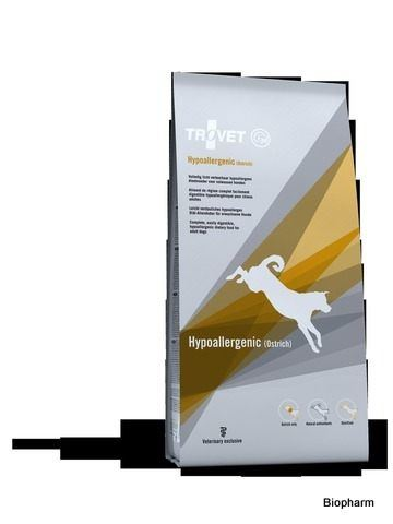 Trovet Hypoallergenic Treat stomach (Ostrich-pštros) HOT 6x150g pes