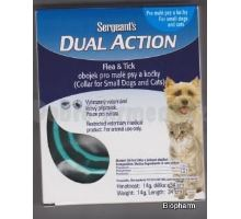 Sergeants Dual Action obojek pro malé psy a kočky 34cm