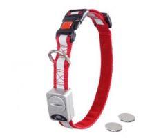 LED světelný obojek nylon červený obvod 40-55cm x 20mm