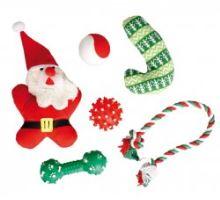 Vánoční hračky pro psa - set 6ks