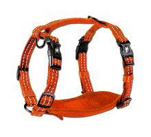 Alcott reflexní postroj pro psy oranžový, velikost L